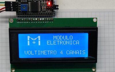 Aprenda a fazer um voltímetro de 4 canais com Arduino Nano e display 20×4 i²c.
